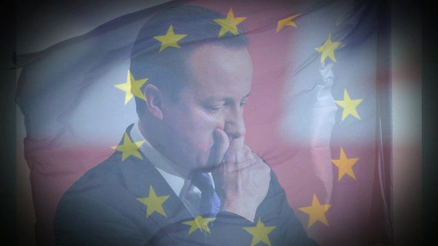 David Cameron and the European flag