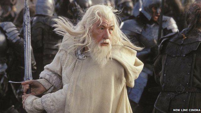 Sir Ian McKellen as Gandalf the wizard