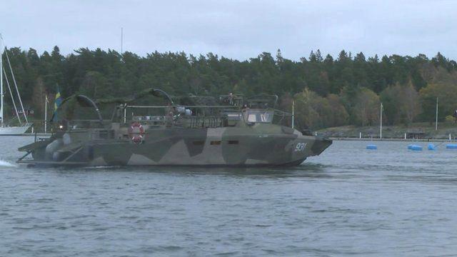 A Swedish Navy vessel