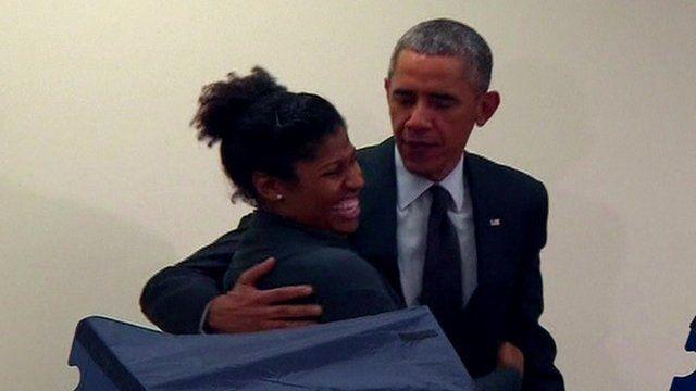 Barack Obama and Aia Cooper