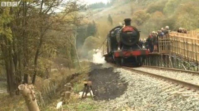Train at Corwen station