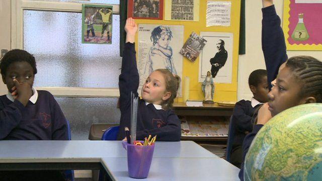 Children in lesson