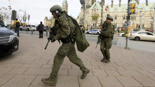 Armed RCMP officers
