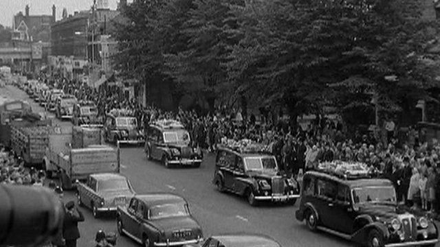 Image from funerals of policemen