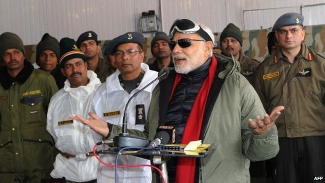 India PM Narendra Modi visits Siachen glacier on Diwali