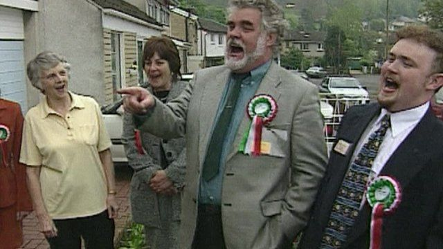 Archive image of Plaid supporters celebrating