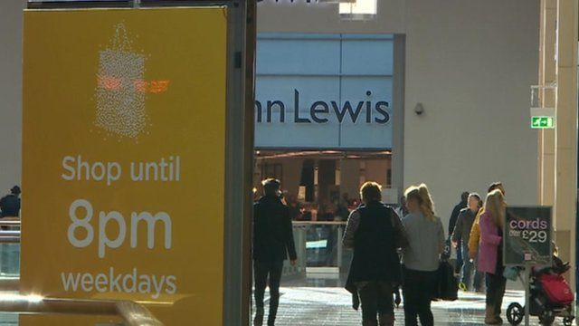 Shoppers at St David's in Cardiff