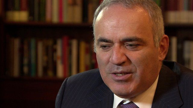 Russian opposition politician Garry Kasparov, founder of United Civil Front