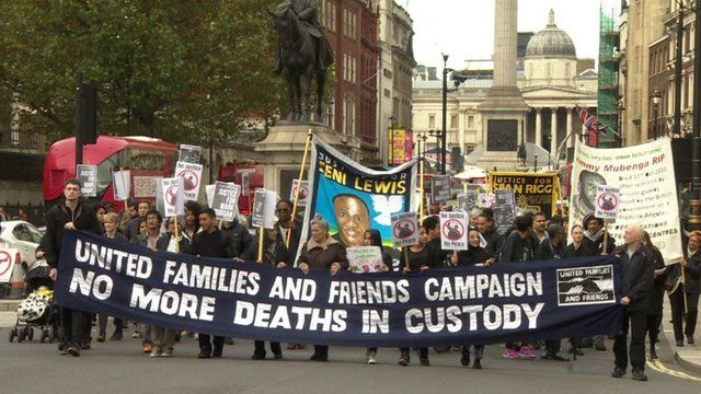 Thee United Families and Friends Campaign march in central London