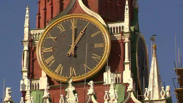 Clock in Russia