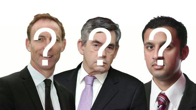 Composite graphic showing (l-r) Jim Murphy, Gordon Brown and Anas Sarwar