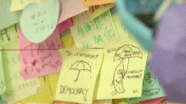 Sticky note protests