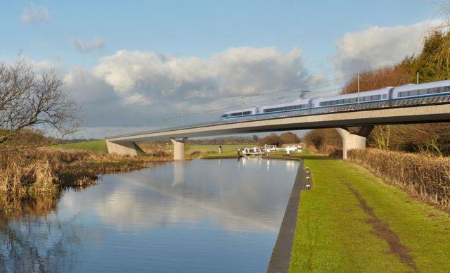Artist's impression of high speed train
