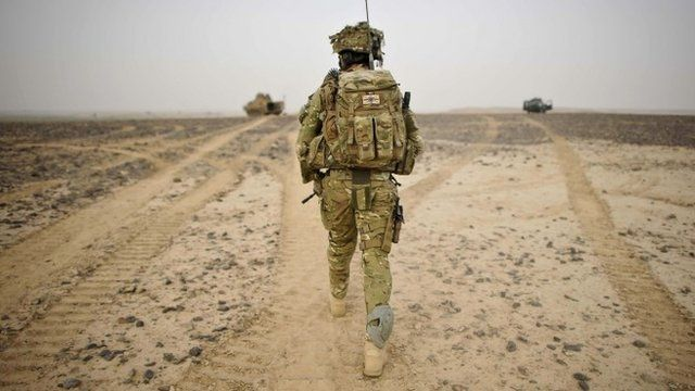 British officer in Afghanistan - file image
