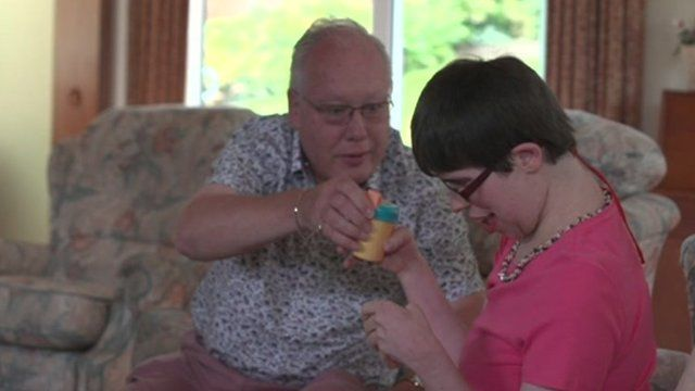 Care home resident and her father