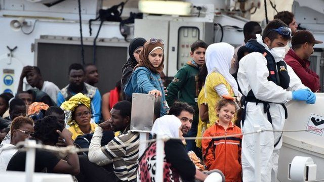 Migrants trying to reach Europe