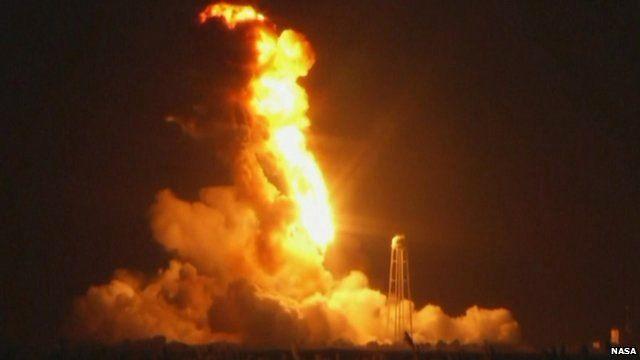 Rocket explosion