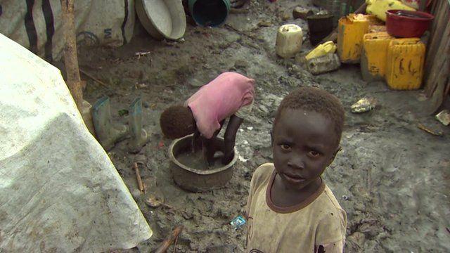 Children in UN refugee camp, South Sudan
