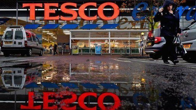 Tesco shop front