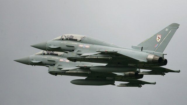 File photograph of RAF Typhoons