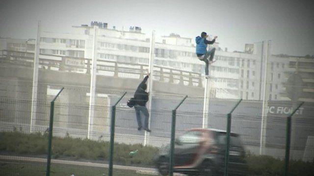 Asylum seekers in Calais