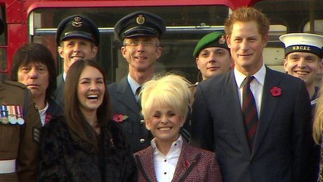 Prince Harry at Poppy event