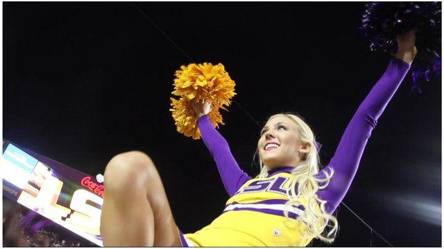 An LSU cheerleader