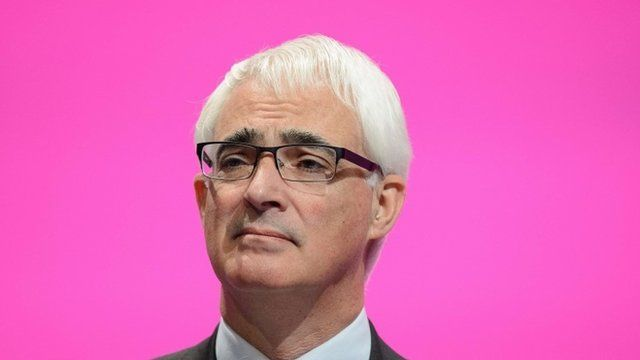 """British Labour Party politician and """"Better Together"""" campaign leader Alistair Darling"""