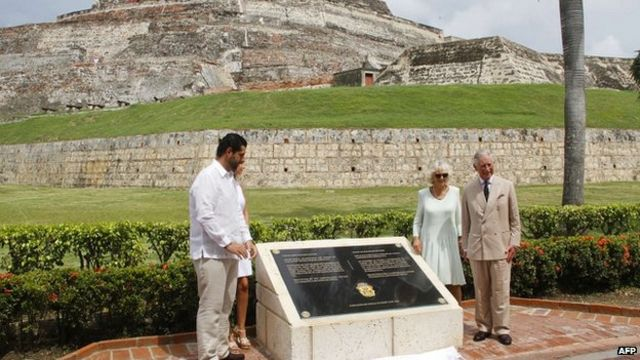 Complaints in Colombia over Prince Charles plaque