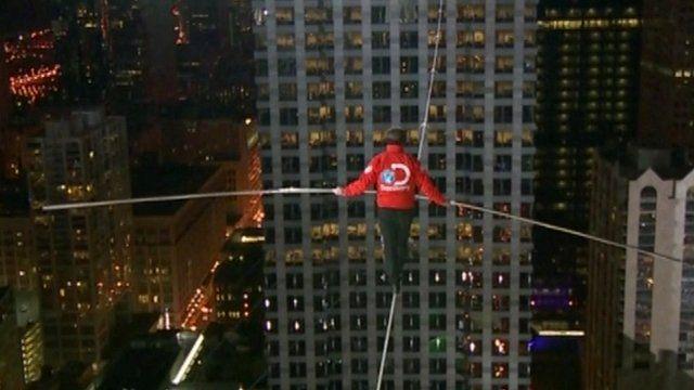 US tightrope walker Nik Wallenda