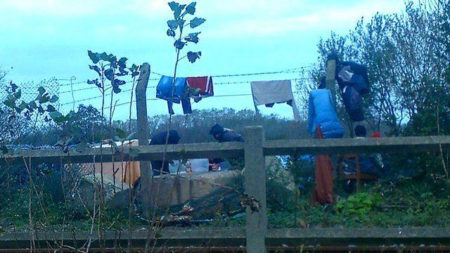 Migrants in Calais - photo by David Hanson MP
