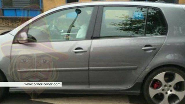 Image of Sadiq Khan in car