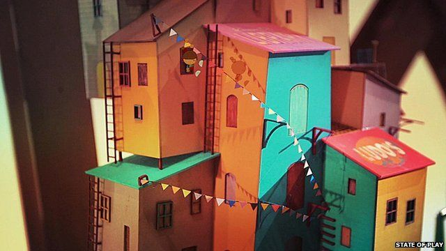 Buildings shown in a screenshot from Lumino City, by State of Play