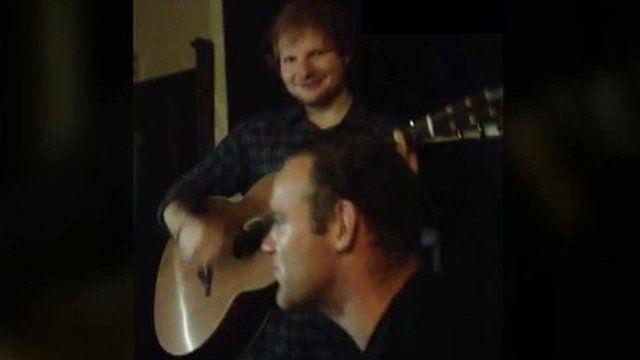 Wayne Rooney and Ed Sheeran