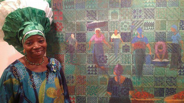 Nigerian artist Chief Nike Davies-Okundaye