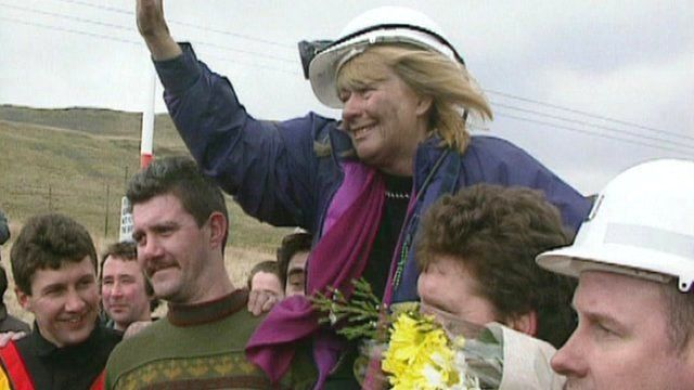 Ann Clwyd at Tower Colliery in 1994