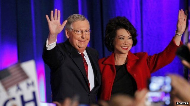 Senate Minority Leader Mitch McConnell (R-KY) with wife