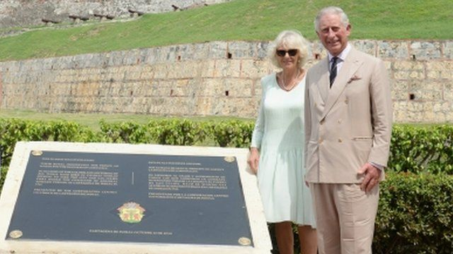 Duchess of Cornwall and Prince Charles in Colombia
