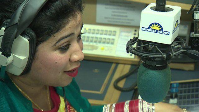 Sunrise Radio presenter on air