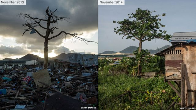Typhoon Haiyan: Images of then and now