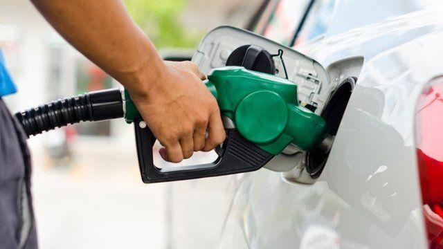 Petrol pump in a car
