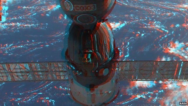 A 3D image of the International Space Station