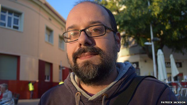 Manel Pons who supports independence for Catalan