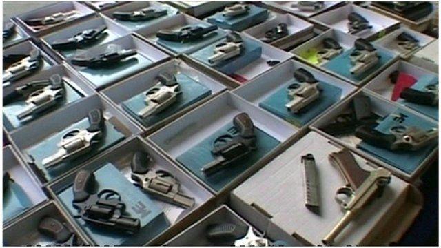 Selection of guns