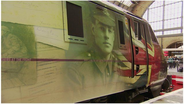The For the Fallen train stared its journey at London's King's Cross