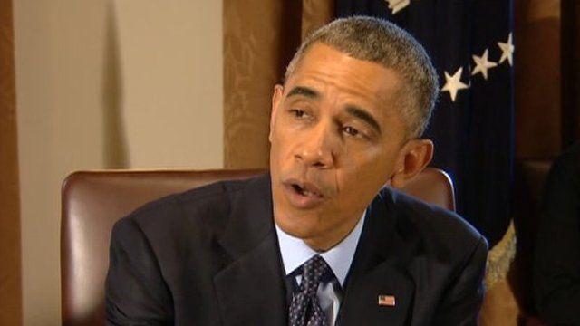 President Barack Obama appeared at the White House in Washington DC on 7 November 2014