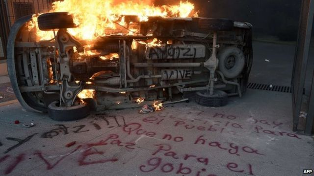 Protests in Mexico after claims of Guerrero student deaths