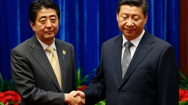 The leaders of China and Japan have met for formal talks after more than two years
