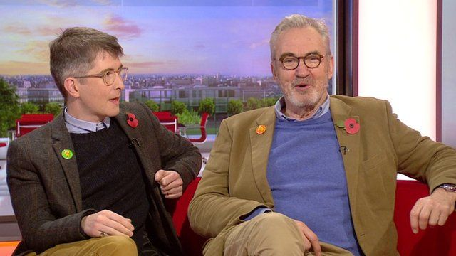 Gareth Malone and Larry Lamb