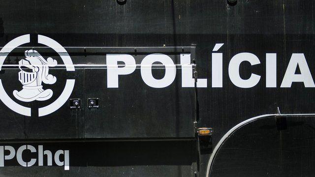 Police van in Brazil